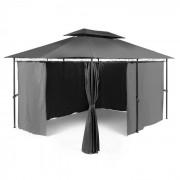 Blumfeldt Grandezza, тъмно сив, градински павилион, парти палатка 3х4 м, стомана, полиестер, (GDW6-Grandezza-GR)