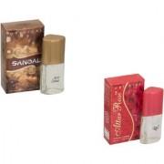 Skyedventures Set of 2 Sandel 20ml-Attar Rose 20ml Perfume