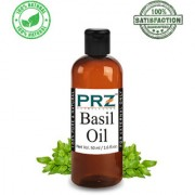 PRZ Basil ( Tulsi ) Essential Oil (50ML) - Pure Natural & Therapeutic Grade Oil For Aromatherapy Body Massage Skin Care & Hair Care