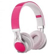 Maxy Cuffia On-Ear A Filo Stereo Headphones Ep-16 Universale Jack 3,5mm Pink Per Modelli A Marchio Ngm