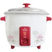 Maxstar RC01 Multichef Electric Rice Cooker with Steaming Feature(1.8 L, White and Red)