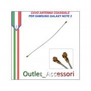 Cavo Coassiale Antenna Segnale Ricezione per Samsung Galaxy Note 2 N7100 N7105 GT