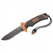 Bear Grylls Gerber Survivalmesser mit Wellenschliff Coltelli (12 cm, nero/orange)
