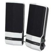 Boxe LogiLink SP0026, 2.0, 4.8 W, USB (Negru/Argintiu)