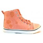 Pantofi Sport Motive Florale - Roz
