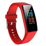 CAVO V18 IPS Color Screen Waterproof Heart Rate Blood Pressure Monitoring Multi-function Smart Bracelet - Red