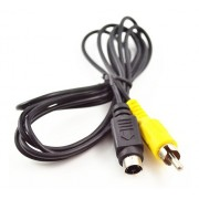 CABLE VIDEO MINI DIN 4 PINES A RCA MACHO 1.5m
