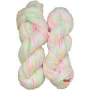 M.G Multi Cream Pie 200 gm hand knitting Soft Acrylic yarn hank wool thread for Art & craft Crochet and needle