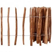 vidaXL Latkový plot, lieskové drevo 60x500 cm
