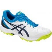 Asics Gel-Peake 5 Cricket Shoes For Men(White, Blue, Green)