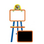 Disney Mickey 5 in 1 double sided learning easel for kids/Height adjustable white & black board/Multifunctional writing board/ White board to draw/ chalk board to write/ activity sheets to develop skills/ mind development toys/ Multi color toys for kids (