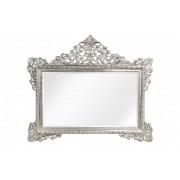 Oglinda dreptunghiulara argintie cu rama din lemn 190x155 cm Baroque Versmissen