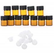 Oanda 1 Ml Amber Glass Botella De Aceite Esencial (1/4 DRAM) Con Un Orificio Reductor Y Cap (12pcs)