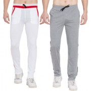 Cliths Stylish Joggers For Men Yoga Pants For Gym- Pack of 2 (White Red Grey Black)