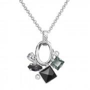 Colier cu cristale Swarovski FaBOS, Colourmix (black) 7430-5992-03