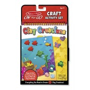 Melissa and Doug On the Go Clay Creations Craft Kit with Clay Colors and Sculpting Tool, Multi Color