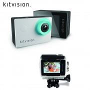 Kitvision - Wasserfeste 720p HD Sport Action Camera (KVACTCAM2) - Weiss / Schwarz