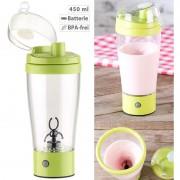 Rosenstein & Söhne Selbstrührender Trinkbecher mit elektrischem Quirl, 450 ml, BPA-frei