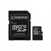 Card de memorie Kingston microSDHC Canvas Select 80R 16GB Clasa 10 UHS-I U1 80 Mbs cu adaptor SD