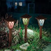 Napelemes kerti leszúrható Egon lámpa 35,5 cm – RGB