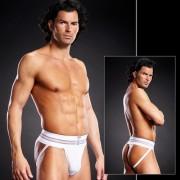 Blue Line Performance Microfiber Jock Strap Underwear White BLM005