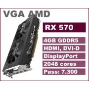 VGA AMD RX570, 4GB, 36mj