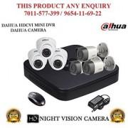 Dahua 1.3 MP HDCVI 8CH DVR + Bullet Camera 3Pcs and Dome Camera 3Pcs CCTV Combo