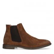 Manfield Bruine suède chelsea boots