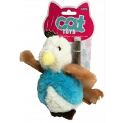 Velký plyšový ptáček s catnipem - hračka pro kočky 17 cm