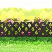 Virágágyás szegély / kerítés – fekete 60 x 22 cm