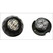 Blitz auto cu 3 LED-uri de mare putere si montaj de suprafata sau in far/lampa auto