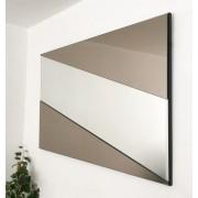Stripe Bronze & Clear Mirror. 92x61cm