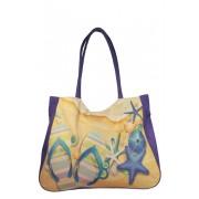 Beach Blue taška na pláž fialová