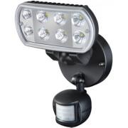 Nagyteljesítményu LED-lámpa L801 PIR IP55 infravörös mozgásérzékelovel 8x1W 850lm fekete Energiahatékonysági osztály A