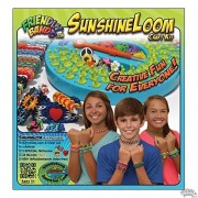 Friendly Bands - Sunshine Loom Rainbow Craft Kit - Plus Exclusive FREE Bonus Split Decisions (Two-tone) pack of fbRubberbands - Create Rubber Band Bracelets, Necklaces, Rings