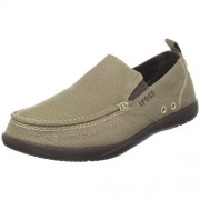 Crocs Men's Walu Khaki and Espresso Rubber Loafers and Mocassins - M10