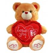 Golden Brown 2.5 Feet Sitting Love You Heart Teddy Bear