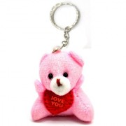 Evershine Gifts And Household Soft Cute Teddy bear Love Keychain Valentine Day Special Keychain-1pc- Multicolor