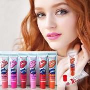6 Colors Tattoo Magic Color Peel Off Mask Tint Long Lasting Waterproof Lip GlossLong Lasting Colorful Waterproof Matt
