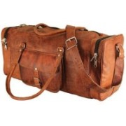 Pranjals House (Expandable) real leather duffle bag for travel Travel Duffel Bag(Brown)