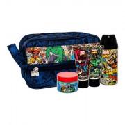 Marvel Comics Hero Deodorant 150 ml + Duschgel 50 ml + Feuchtigkeitscreme 50 ml + Haargel 75 ml + Kosmetiktasche für Kinder