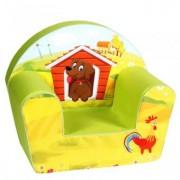 Fotoliu din Burete Pentru Copii Happy Children - Dog on a Farm