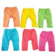 Manan Fashion Multicolor Cotton 0 to 2 Years Unisex Kids Pyjama (Pack of 6)