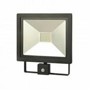 Proiector LED Slim cu senzor de miscare, 50W, IP65, negru, 30000 ore, 6500 K, rece