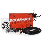 Roommate Revenge Kit - The Prank Set of Plastic Cockroach Realistic Bugs, Spiders, and Snake on a Wire
