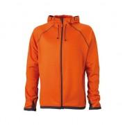 James & Nicholson Oranje heren fleece vesten