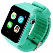 Ceas GPS Copii si Seniori iUni V8K Touchscreen 1.54 inch Pedometru Bluetooth Notificari Camera Green Bonus Bratara Roca Vulcanica unisex