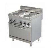 Combisteel Cuisinière Électrique avec Four 4 Plaques 4x 2,6kW 800x700x900(h)mm