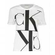 Calvin Klein T-SHIRT MIRRORED MONOGRAM DONNA