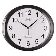 Černé luxusní oválné přesné rádiem řízené hodiny JVD RH64.1